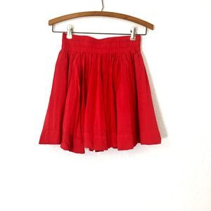 FOREVER 21 Red Pleated Mini Skirt Size XS
